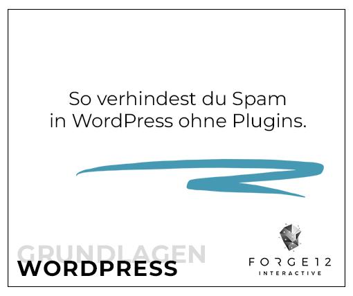 WordPress Spam verhindern 2020