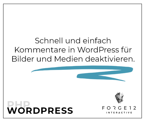 WordPress Kommentare für Medien deaktivieren