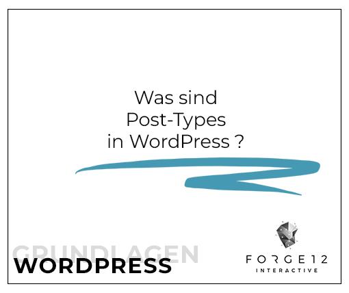 Was sind Post-Types in WordPress