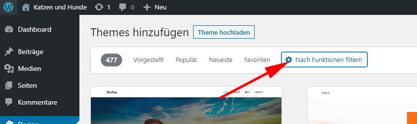 WordPress-Theme-Filter
