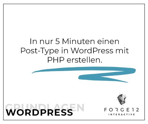 WordPress Webentwicklung Post-Type erstellen