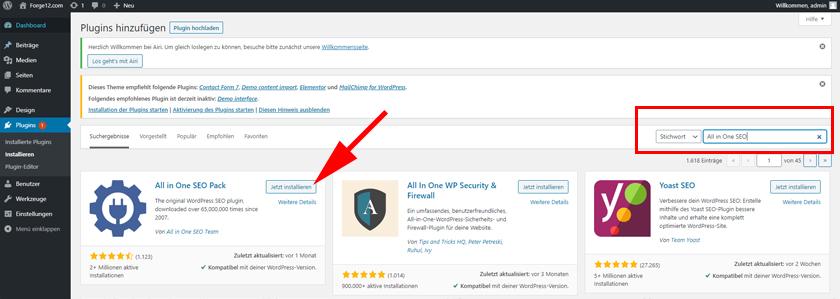 WordPress All in One SEO Plugin