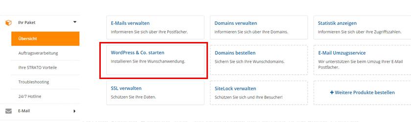 WordPress Installieren über Strato