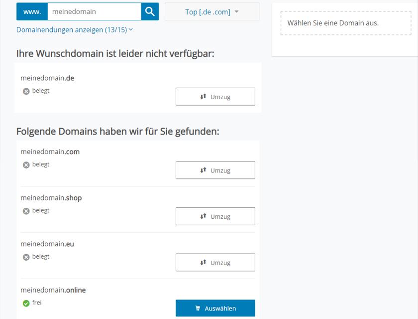 Domain Prüfen - Strato
