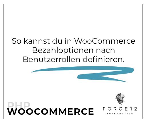WooCommerce PHP Bezahlmethoden nach Benutzerrollen